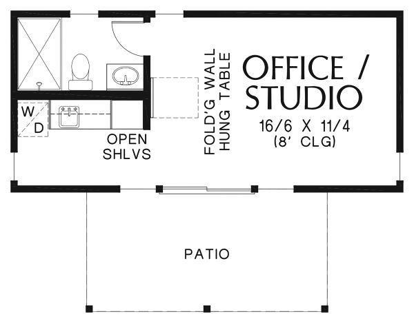 Contemporary Floor Plan - Main Floor Plan Plan #48-953
