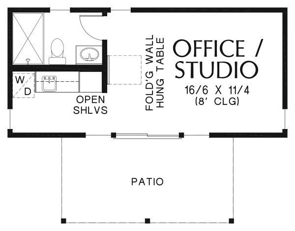 Contemporary Floor Plan - Main Floor Plan Plan #48-953