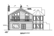 Modern Style House Plan - 2 Beds 2 Baths 2084 Sq/Ft Plan #117-431 Exterior - Rear Elevation