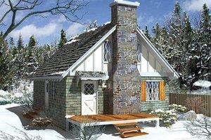 Cottage Exterior - Front Elevation Plan #57-503