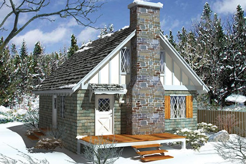 Cottage Style House Plan - 4 Beds 2 Baths 1280 Sq/Ft Plan #57-503 Exterior - Front Elevation