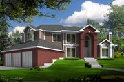 Traditional Style House Plan - 4 Beds 2.5 Baths 2696 Sq/Ft Plan #100-446 Exterior - Front Elevation
