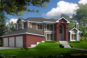 Traditional Exterior - Front Elevation Plan #100-446