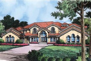 Mediterranean Exterior - Front Elevation Plan #417-440