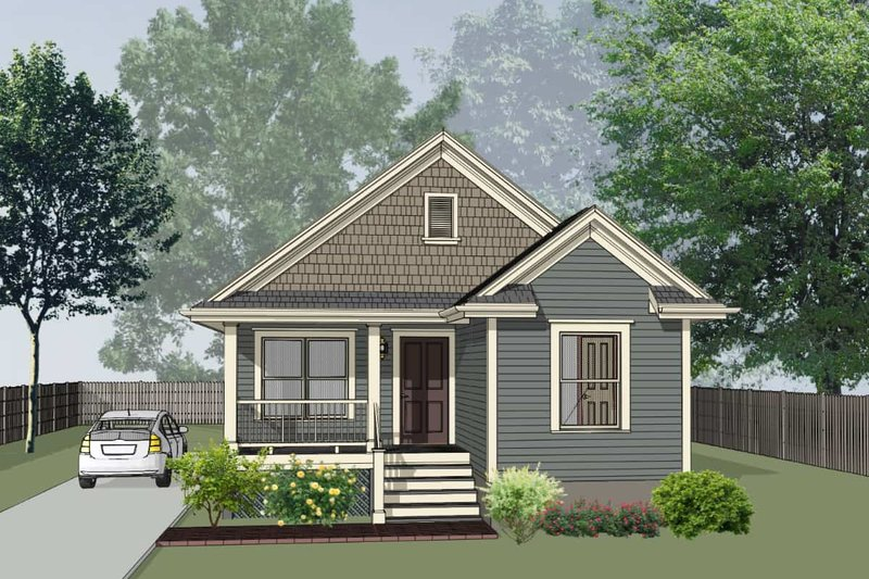 Cottage Exterior - Front Elevation Plan #79-144
