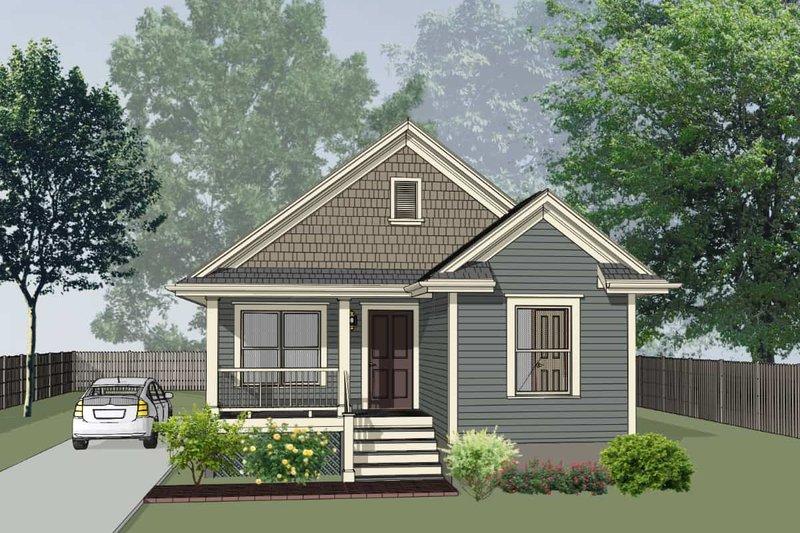 House Plan Design - Cottage Exterior - Front Elevation Plan #79-144
