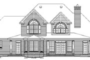 Colonial Style House Plan - 5 Beds 4 Baths 3196 Sq/Ft Plan #929-705 Exterior - Rear Elevation
