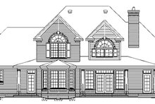 Architectural House Design - Colonial Exterior - Rear Elevation Plan #929-705