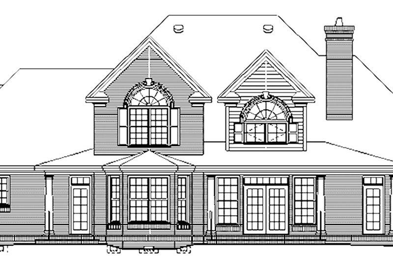Colonial Exterior - Rear Elevation Plan #929-705 - Houseplans.com