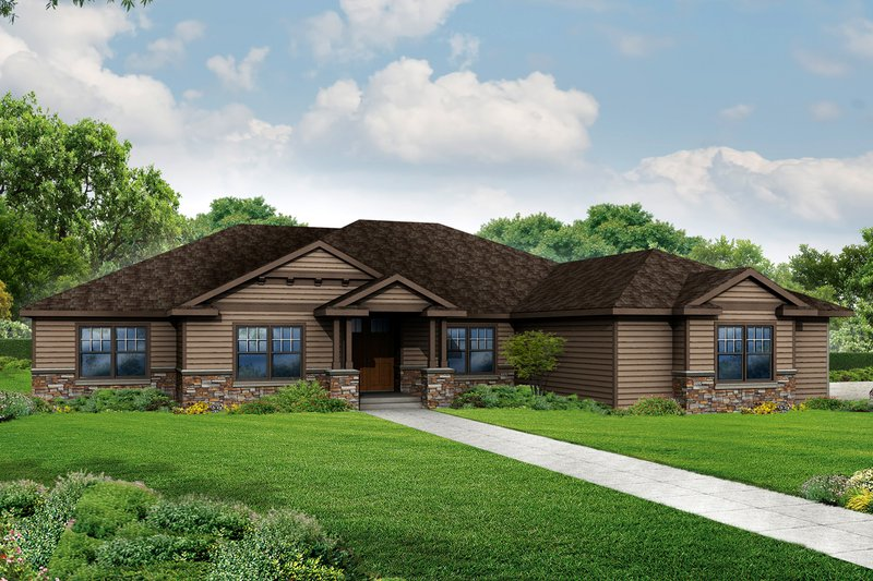 Traditional Exterior - Front Elevation Plan #124-970