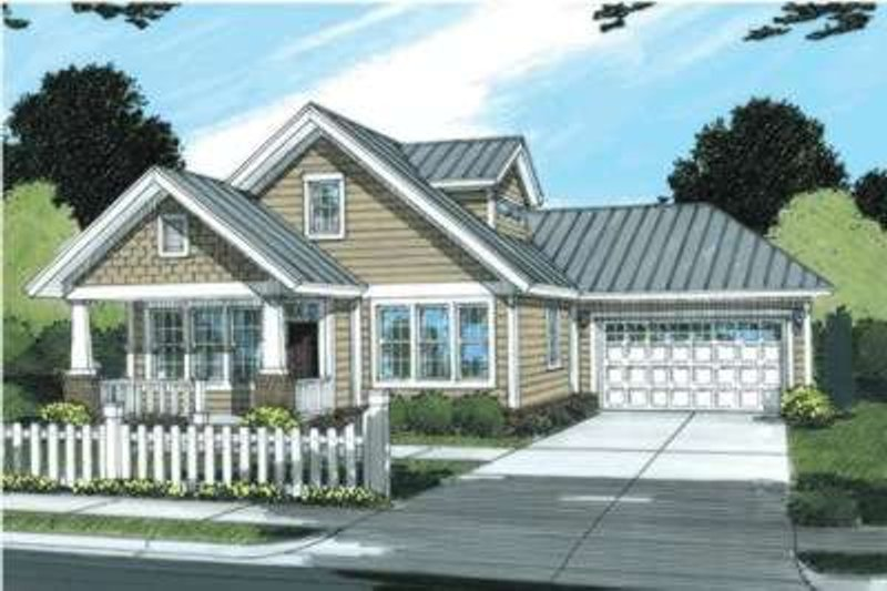 Dream House Plan - Craftsman Exterior - Front Elevation Plan #20-1882