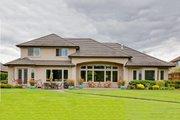 Mediterranean Style House Plan - 3 Beds 3.5 Baths 3231 Sq/Ft Plan #124-713 Exterior - Rear Elevation