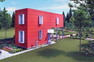 Modern Exterior - Front Elevation Plan #905-5
