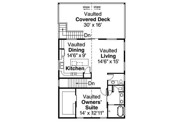 Country Floor Plan - Upper Floor Plan #124-1052