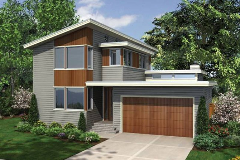 Home Plan - Modern Exterior - Front Elevation Plan #48-525