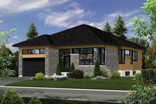 House Plan Design - Contemporary Exterior - Front Elevation Plan #25-4909