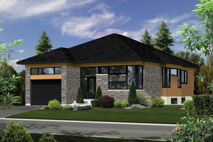 Contemporary Exterior - Front Elevation Plan #25-4909