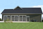 Craftsman Style House Plan - 4 Beds 3.5 Baths 2800 Sq/Ft Plan #21-349 Exterior - Other Elevation
