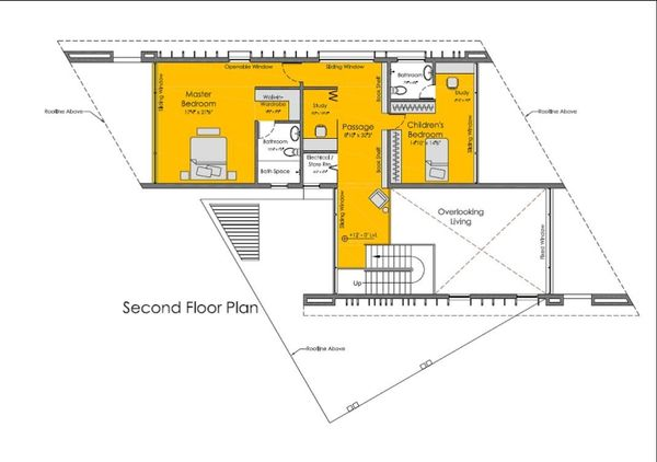 Modern Floor Plan - Upper Floor Plan Plan #467-2