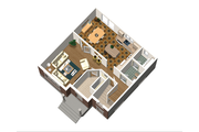 European Style House Plan - 3 Beds 1 Baths 1536 Sq/Ft Plan #25-4702 Floor Plan - Main Floor Plan