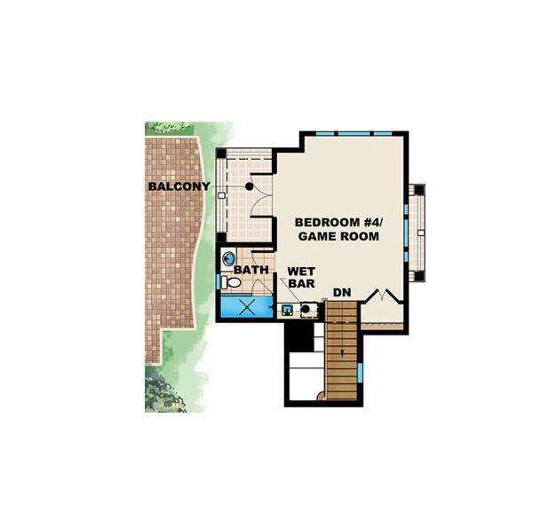 Beach Floor Plan - Upper Floor Plan Plan #27-446