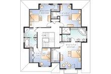 Upper Floor Plan - 2600 square foot European home