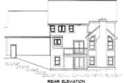 Traditional Style House Plan - 4 Beds 2.5 Baths 2920 Sq/Ft Plan #75-150 Exterior - Rear Elevation