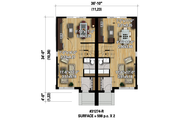 House Plan - 5 Beds 2 Baths 2392 Sq/Ft Plan #25-4517 Floor Plan - Main Floor Plan