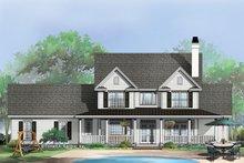 Dream House Plan - Farmhouse Exterior - Rear Elevation Plan #929-297