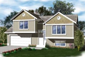 Traditional Exterior - Front Elevation Plan #96-308