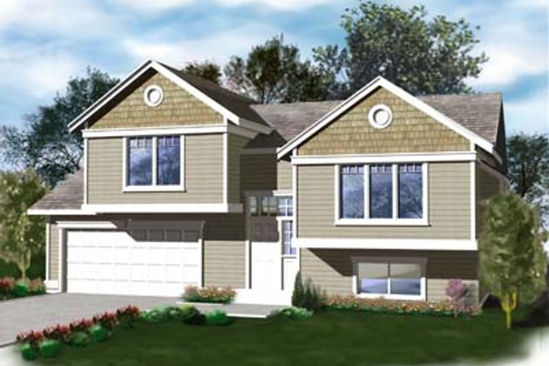 Traditional Exterior - Front Elevation Plan #96-308 - Houseplans.com