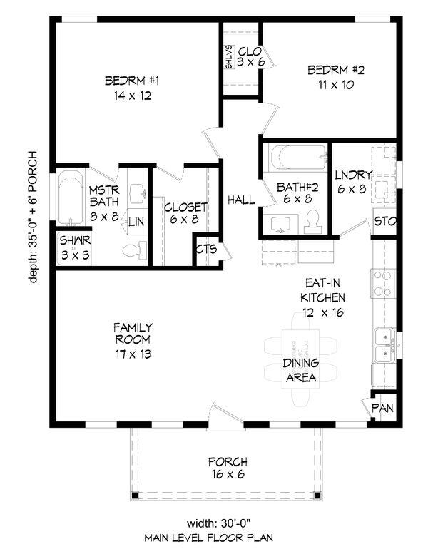 Dream House Plan - Country Floor Plan - Main Floor Plan #932-352