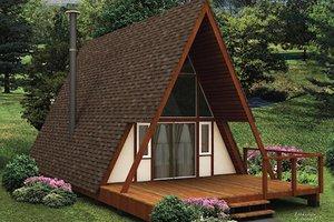 Cottage Exterior - Front Elevation Plan #57-501