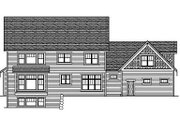 Colonial Style House Plan - 5 Beds 3.5 Baths 4562 Sq/Ft Plan #51-331 Exterior - Rear Elevation
