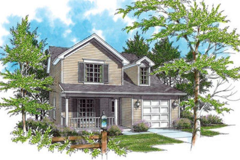 Traditional Exterior - Front Elevation Plan #48-309