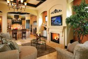 Mediterranean Style House Plan - 4 Beds 5 Baths 3031 Sq/Ft Plan #930-22 Interior - Family Room