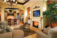 Architectural House Design - Mediterranean Interior - Family Room Plan #930-22