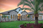 Mediterranean Style House Plan - 4 Beds 3 Baths 2953 Sq/Ft Plan #938-90 Exterior - Front Elevation