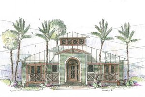 Beach Exterior - Front Elevation Plan #426-11