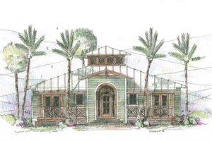 Beach Exterior - Front Elevation Plan #426-11