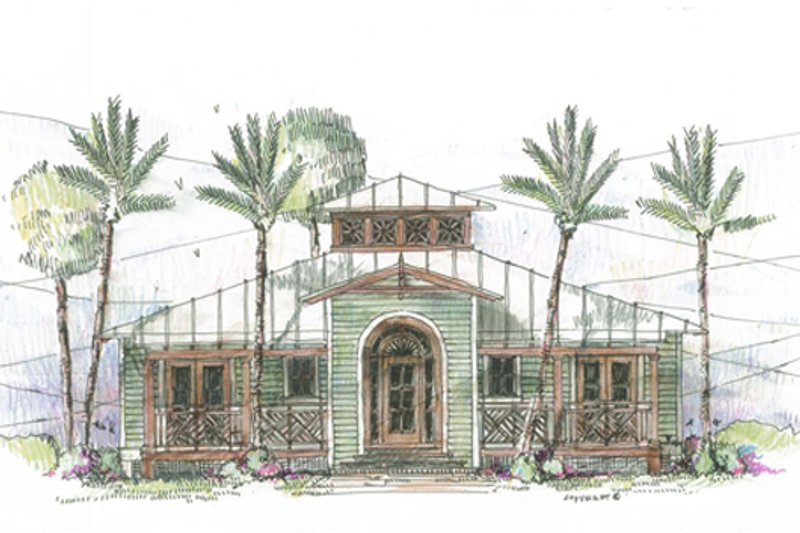 Beach Style House Plan - 3 Beds 2 Baths 1622 Sq/Ft Plan #426-11 Exterior - Front Elevation