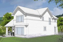 Dream House Plan - Craftsman Exterior - Rear Elevation Plan #48-483