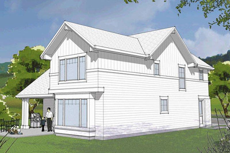 Craftsman Exterior - Rear Elevation Plan #48-483 - Houseplans.com
