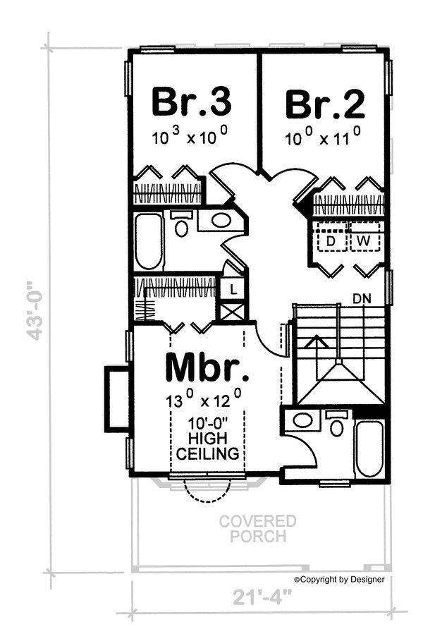 Dream House Plan - Victorian Floor Plan - Upper Floor Plan #20-2469