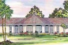 Home Plan - Mediterranean Exterior - Front Elevation Plan #124-430