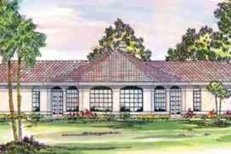 Dream House Plan - Mediterranean Exterior - Front Elevation Plan #124-430