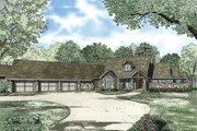 Country Style House Plan - 3 Beds 3.5 Baths 4080 Sq/Ft Plan #17-2386 Exterior - Front Elevation