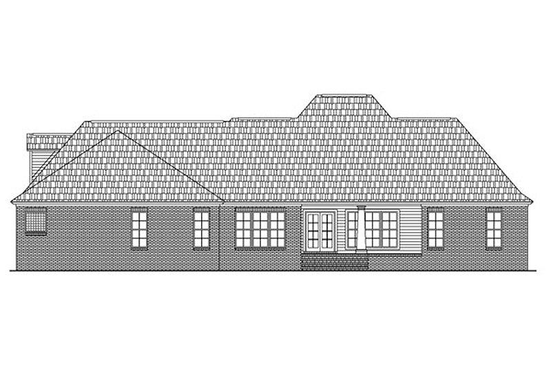 European Exterior - Rear Elevation Plan #21-186 - Houseplans.com