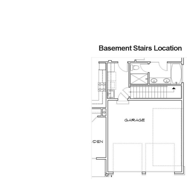 Basement Stairs Location - Plan 48-102