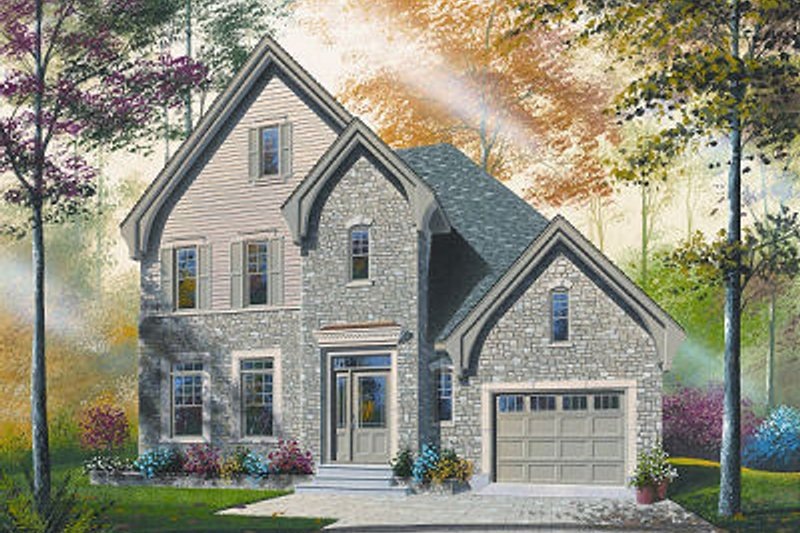 House Plan Design - European Exterior - Front Elevation Plan #23-799